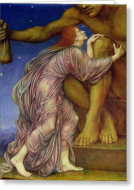 Evelyn De Greeting Cards - The Worship of Mammon Greeting Card by Evelyn De Morgan