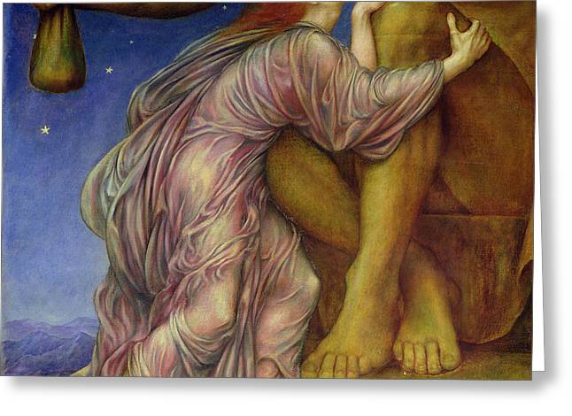 The Worship of Mammon Greeting Card by Evelyn De Morgan