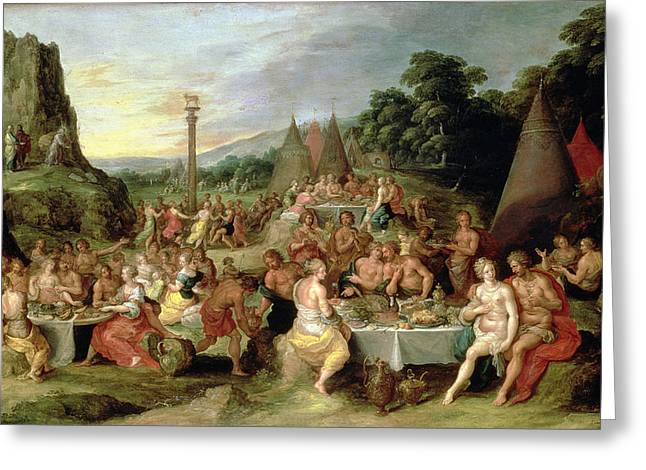 Testament Greeting Cards - The Worship Of The Golden Calf Greeting Card by Frans II the Younger Francken
