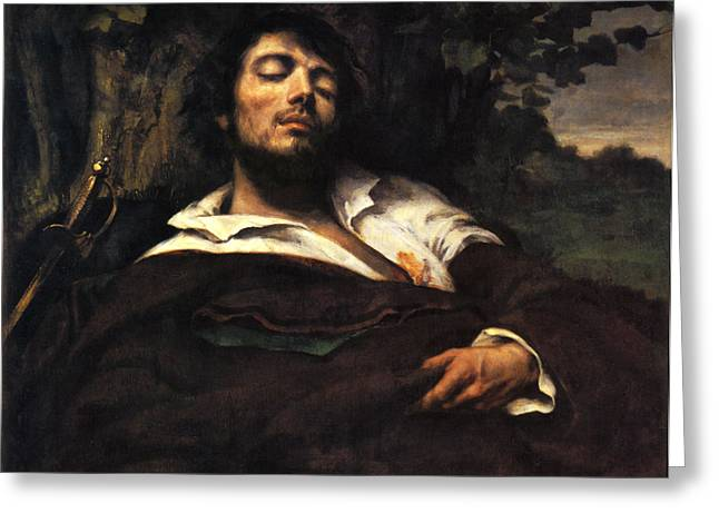 Wounded Warrior Greeting Cards - The Wounded Man Greeting Card by Gustave Courbet