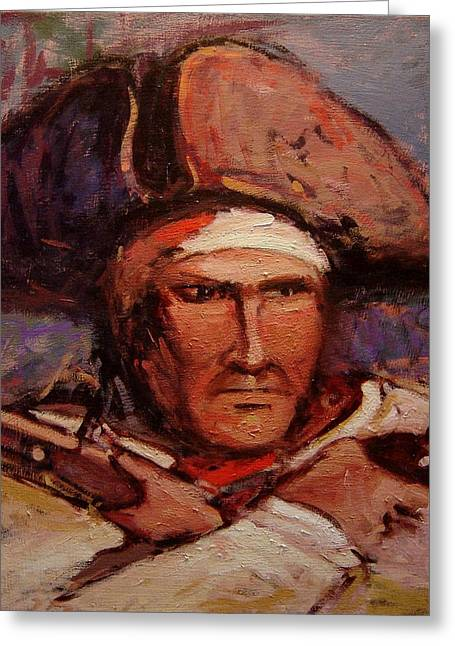 Opposition Paintings Greeting Cards - The wounded patriot Greeting Card by R W Goetting