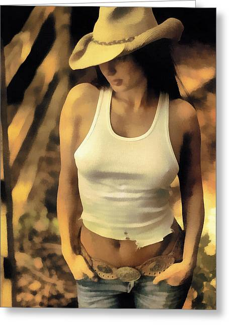 Wrangler Greeting Cards - The Wrangler Greeting Card by Naman Imagery