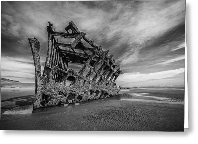 Shipwreck Greeting Cards - The Wreck of the Peter Iredale Greeting Card by Rick Berk