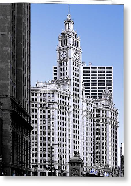 Tall Greeting Cards - The Wrigley - A building that is pure Chicago Greeting Card by Christine Till