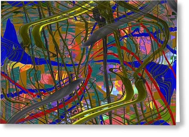 Surreal Geometric Greeting Cards - The Writing On The Wall 23 Greeting Card by Tim Allen