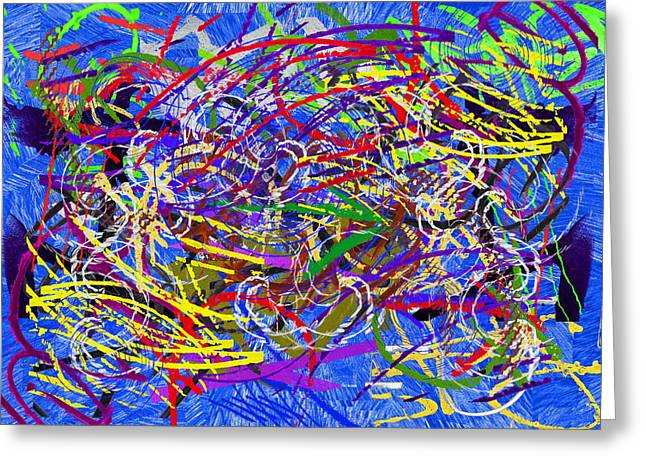 Recently Sold -  - Abstract Expression Greeting Cards - The Writing On The Wall 26 Greeting Card by Tim Allen
