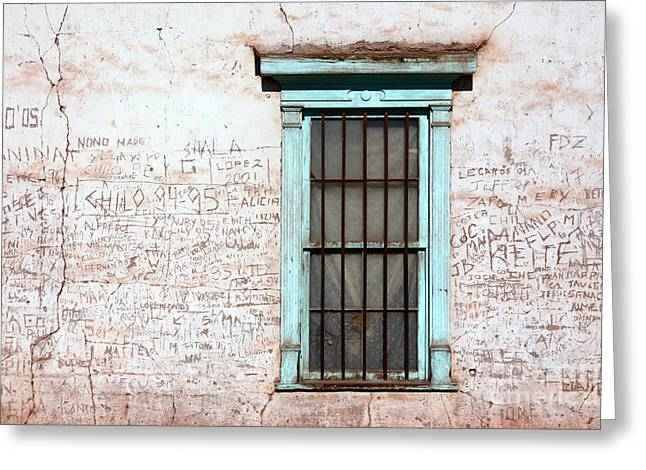 Untidy Greeting Cards - The Writing on the Wall Greeting Card by James Brunker