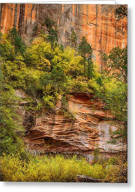 West Fork Greeting Cards - The Writing on the Wall  Greeting Card by Saija  Lehtonen