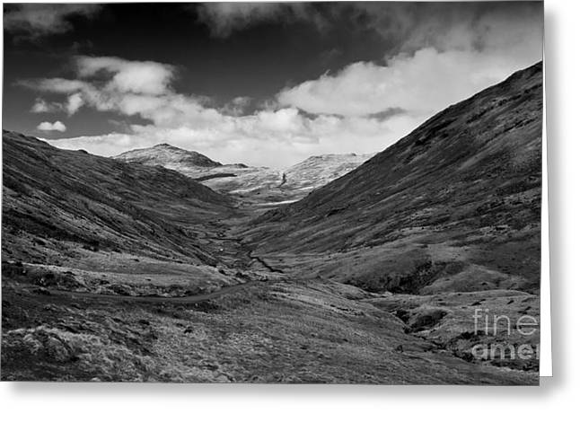 Mountain Road Greeting Cards - The Wrynose Pass  Greeting Card by Rob Hawkins