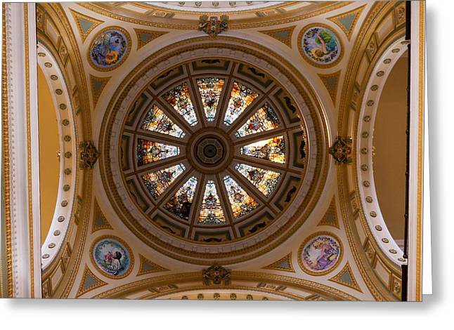 Post-civil War Greeting Cards - The Wyandot County Dome Greeting Card by Thersa Couch