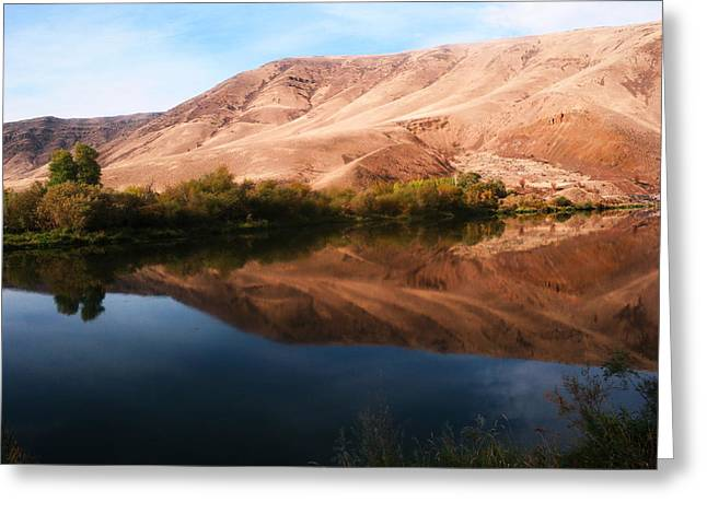 Central Washington Greeting Cards - The Yakima river Greeting Card by Jeff  Swan