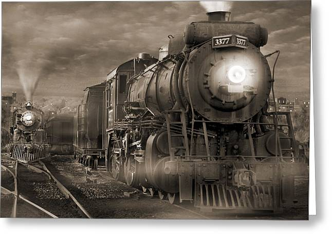 Train Yard Greeting Cards - The Yard 2 Greeting Card by Mike McGlothlen