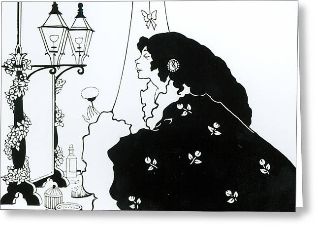 The Yellow Book  Greeting Card by Aubrey Beardsley