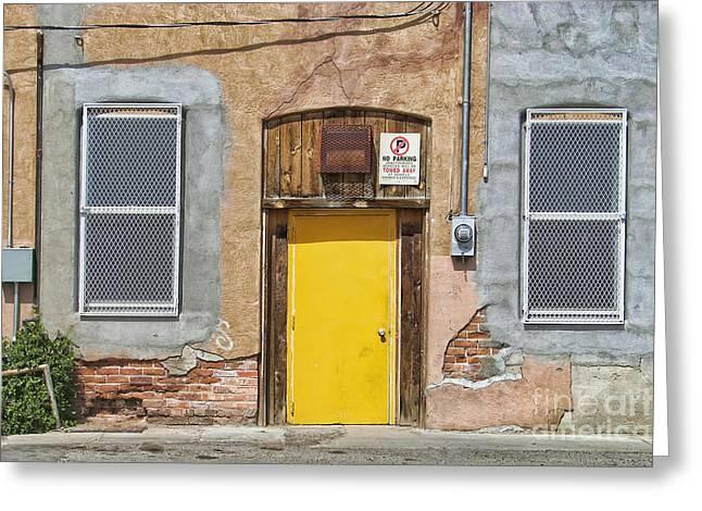 Run Down Greeting Cards - The Yellow Door #2 Greeting Card by Nikolyn McDonald