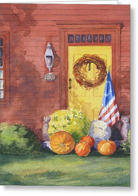 Bittersweet Paintings Greeting Cards - The Yellow Door Greeting Card by Vikki Bouffard