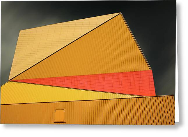 The Yellow Roof Greeting Card by Gilbert Claes