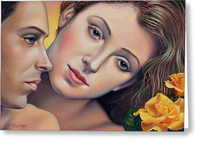 Man Pastels Greeting Cards - The Yellow Rose of Texas Greeting Card by Patrick Anthony Pierson