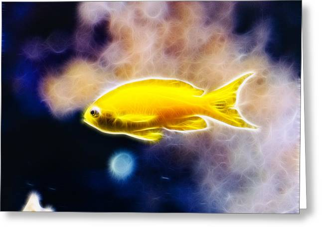 Undersea Photography Greeting Cards - The Yellow Submarine Greeting Card by Pati Photography
