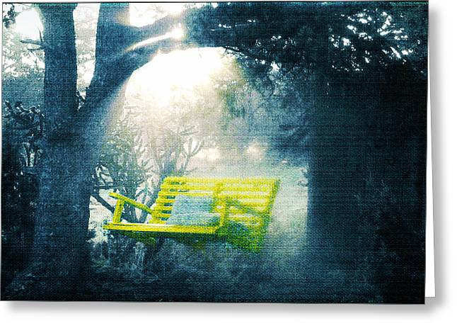 The Yellow Swing Greeting Card by Douglas MooreZart