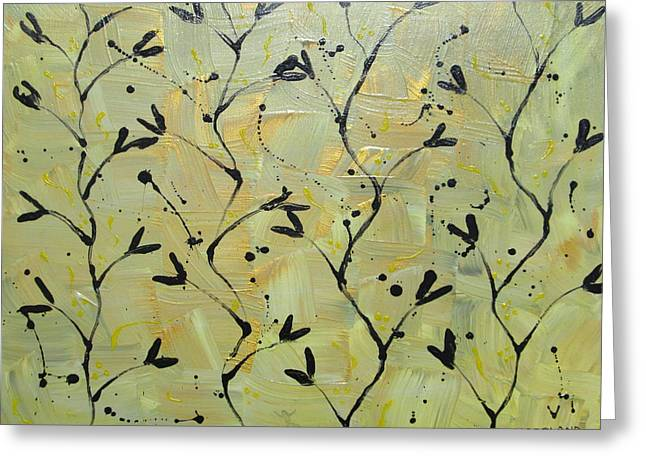 Gilman Greeting Cards - The Yellow Wall Paper Greeting Card by Laura Moreland