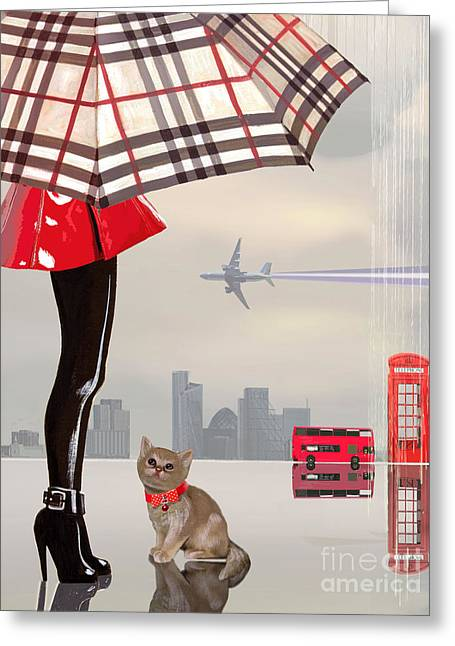 Fashions Greeting Cards - The young Londoner Greeting Card by Victoria Fomina