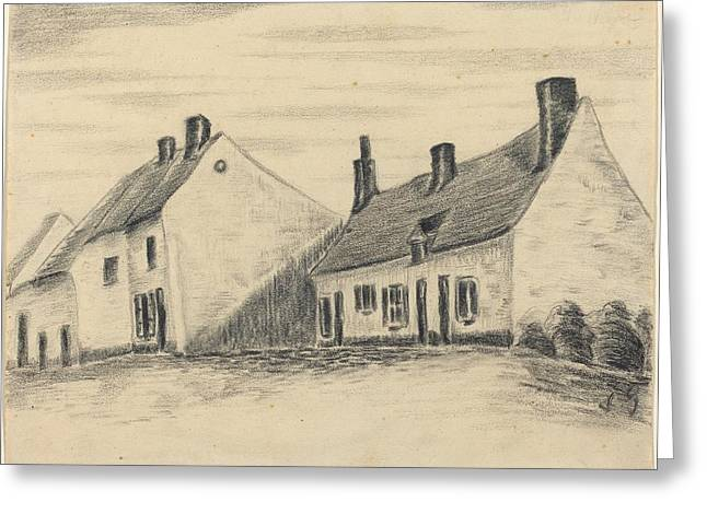 Famous ist Drawings Greeting Cards - The Zandmennik House Greeting Card by Vincent van Gogh