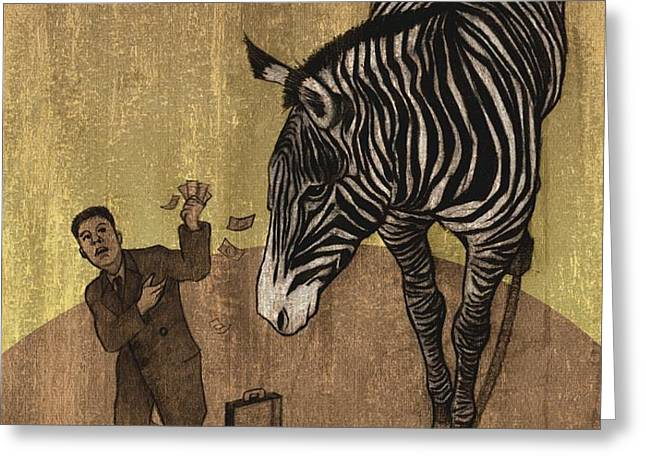 The Zebra Greeting Card by Dirk Dzimirsky