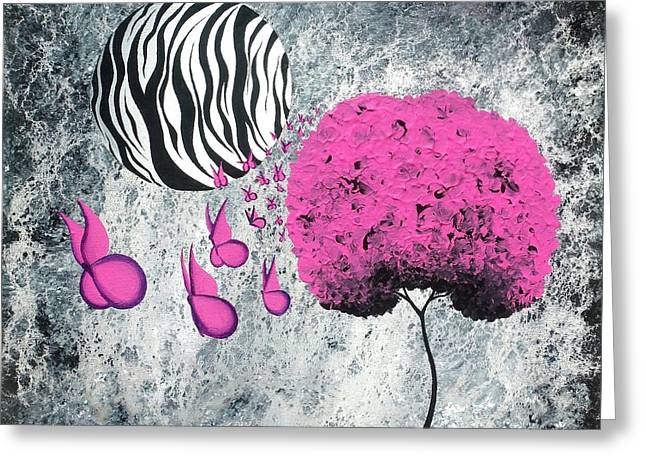 The Zebra Effect 1 Greeting Card by Oddball Art Co by Lizzy Love