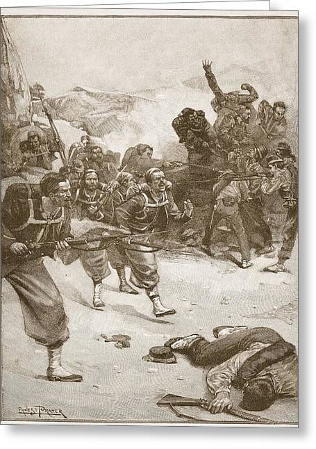 Franco Greeting Cards - The Zouaves Took One Of The Barricades Greeting Card by Ernest Prater