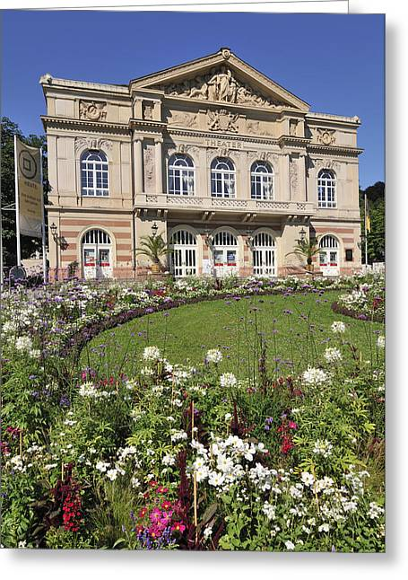 Baden-baden Greeting Cards - Theater building Baden-Baden Germany Greeting Card by Matthias Hauser