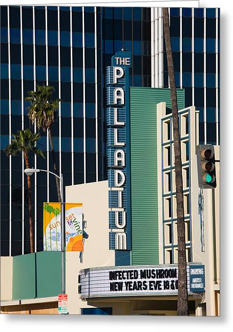 Commercial Photography Greeting Cards - Theater In A City, Hollywood Palladium Greeting Card by Panoramic Images
