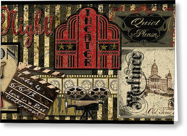 Movie Art Greeting Cards - Theater Greeting Card by Jean Plout