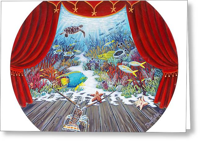 Print On Canvas Greeting Cards - Theater of the Sea Greeting Card by Danielle  Perry