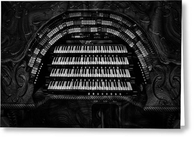 Spectacular Digital Art Greeting Cards - Theater Organ Greeting Card by Jack Zulli