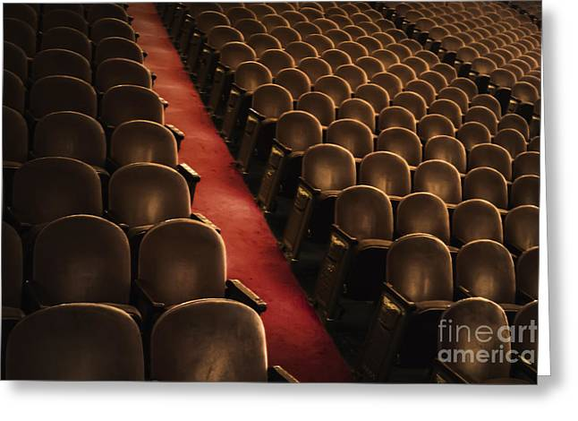 """red Carpet"" Greeting Cards - Theater Seats Greeting Card by Margie Hurwich"