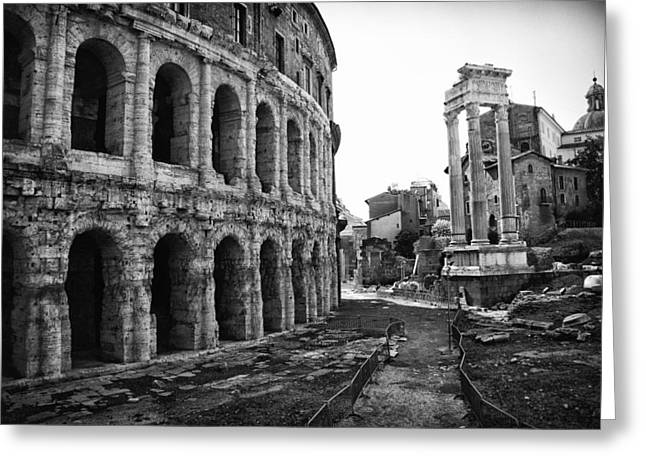 Mancave Photos Greeting Cards - Theatre of Marcellus Greeting Card by Melany Sarafis