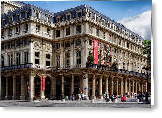Outdoor Theater Photographs Greeting Cards - Theatre of the Comedie Francais in Paris Greeting Card by Mountain Dreams