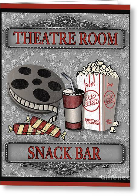 Theatre Room-jp2207 Greeting Card by Jean Plout