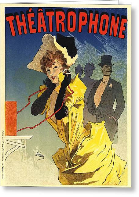 Belle Epoque Greeting Cards - Theatrophone Greeting Card by Gianfranco Weiss