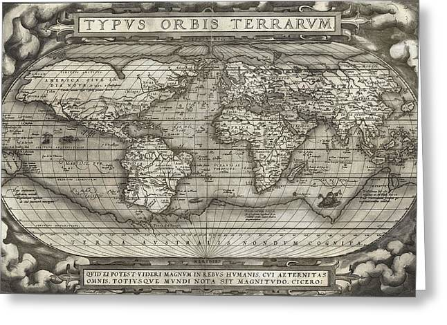First-class Greeting Cards - Theatrum Orbis Terrarum  Greeting Card by Dan Sproul