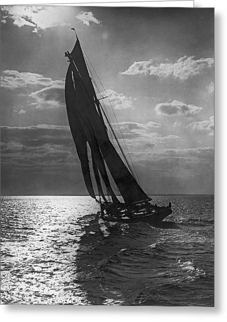 Thebaud Setting Out To Sea Greeting Card by Underwood Archives