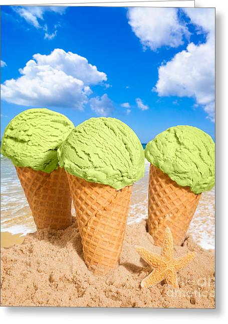 Ice Greeting Cards - Thee Minty Icecreams Greeting Card by Amanda And Christopher Elwell