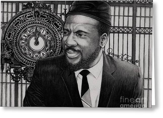 Improvisational Greeting Cards - Thelonious Monk Greeting Card by JL Vaden