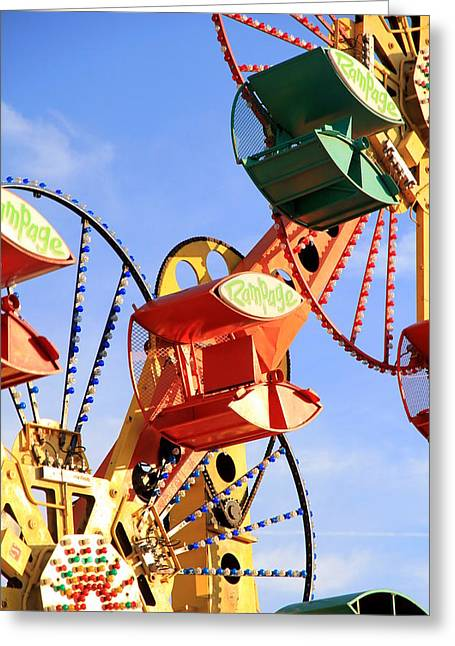 Theme Parks Greeting Cards - Theme Park Ride Greeting Card by Valentino Visentini