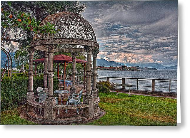 Inseln Greeting Cards - The Gazebo Greeting Card by Hanny Heim