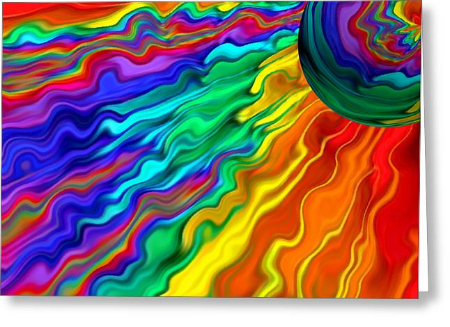 Abstract Expression Greeting Cards - Then The Sky Exploded 1 Greeting Card by Angelina Vick