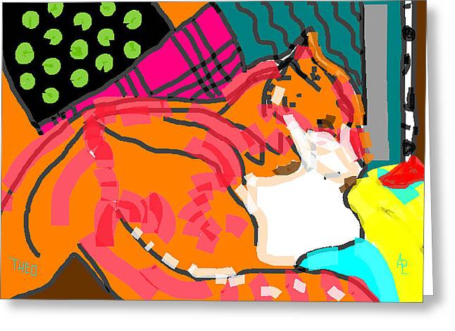 Neutered Greeting Cards - Theo Jazz Greeting Card by Anita Dale Livaditis