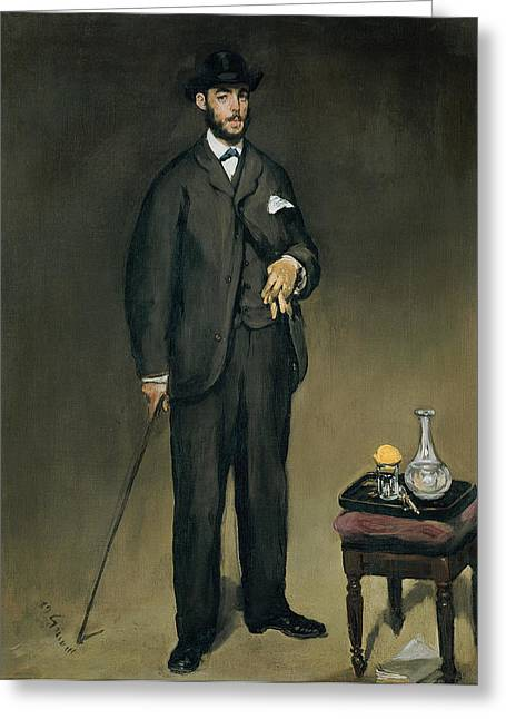 Glove Greeting Cards - Theodore Duret 1838-1927 Oil On Canvas Greeting Card by Edouard Manet