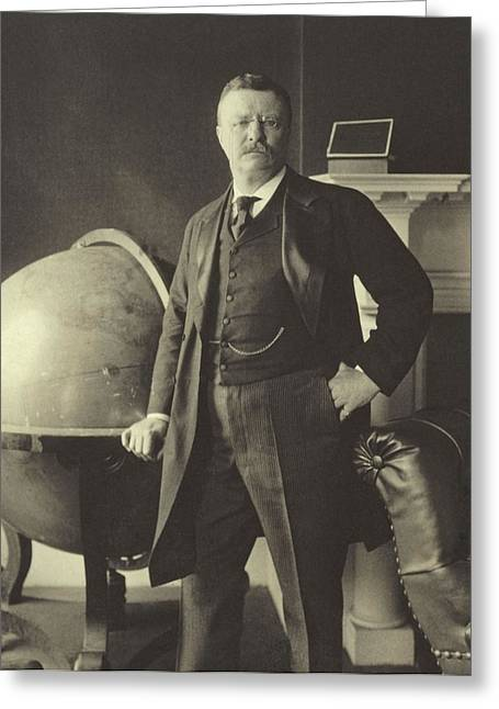 President Of America Photographs Greeting Cards - Theodore Roosevelt  Greeting Card by Anonymous