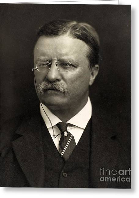 White Suit Greeting Cards - Theodore Roosevelt Greeting Card by Unknown